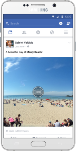 facebook 360° photo tendance