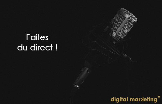 vidéos direct facebook