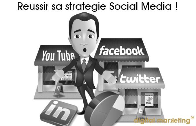 réussir stratégie social media entreprise