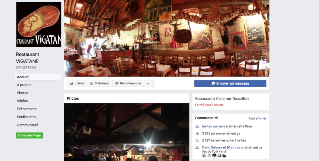 restaurant perpignan réseaux sociaux