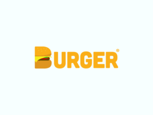 logo burger flat design