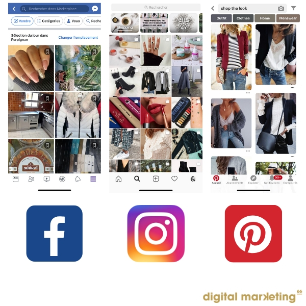 social commerce - marketplace Facebook - Shop the look - Pinterest - Instagram Shopping - social média 2019