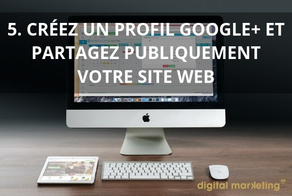 bien referencer site internet profil google