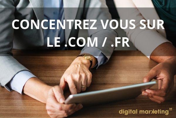 .com et .fr choix nom de domaine