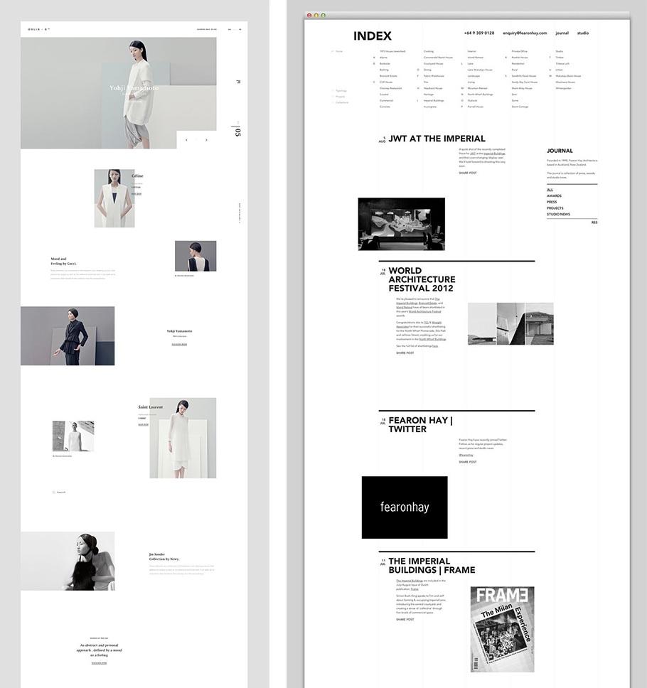 tendance creation site web 2020 espaces vides et grilles