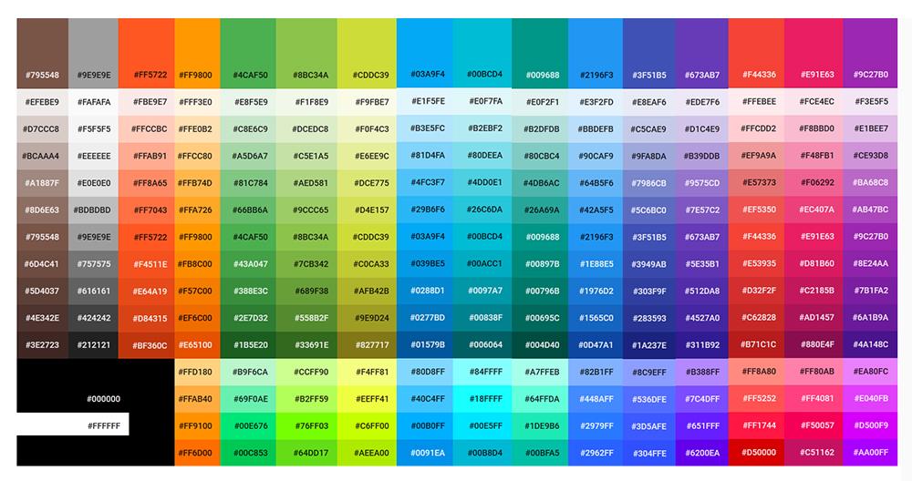 tendance webdesign 2020 couleurs