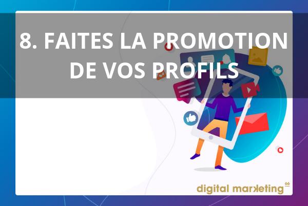 promotion profils pour développer image marque