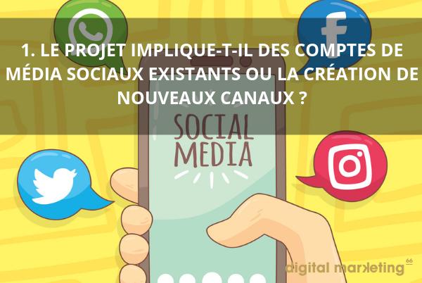 création canaux réseaux sociaux community manager