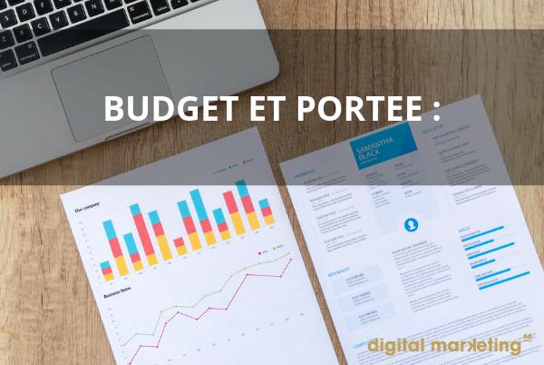 Définir le budget et la portée de son concepteur web